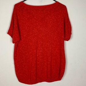 Eileen Fisher Tops - Eileen Fisher- Orange Short Sleeve Shirt size L